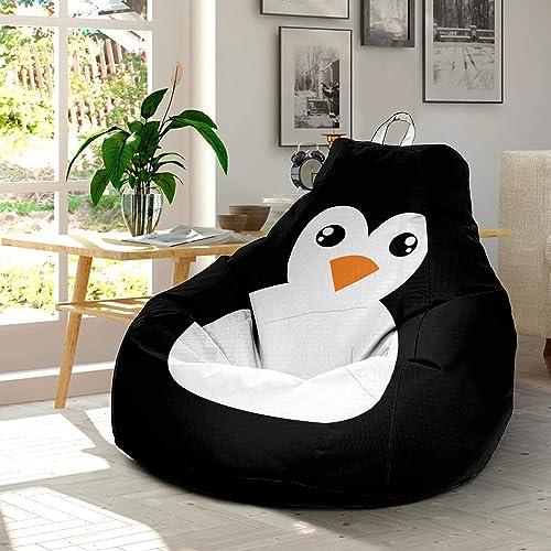 Pleasant Amazon Com Funny Cartoon Penguin Ultra Soft Bean Bags Dailytribune Chair Design For Home Dailytribuneorg