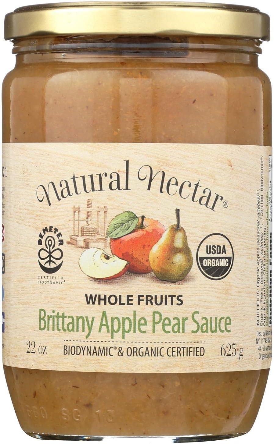 Nat Nectar Brittany Apple Sce,Og2,Pea 22.2 Oz (Pack Of 6)
