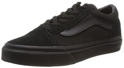 Vans Kids Old Skool Black/Blk Skate Shoe 1 Kids US