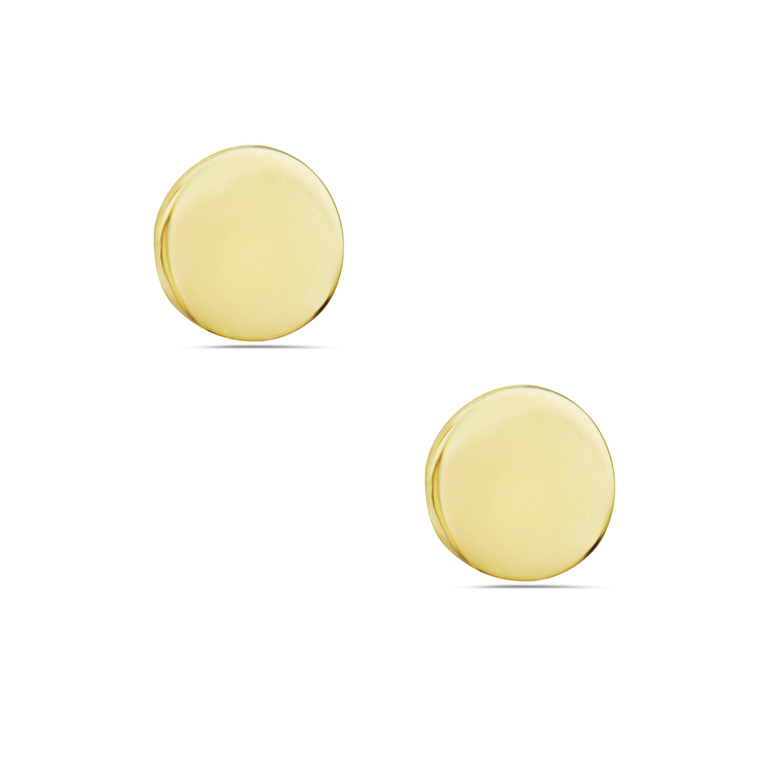 Sterling Silver Tiny Circle Stud Earrings – 100% Hypoallergenic & Allergy Free Jewelry (Gold)