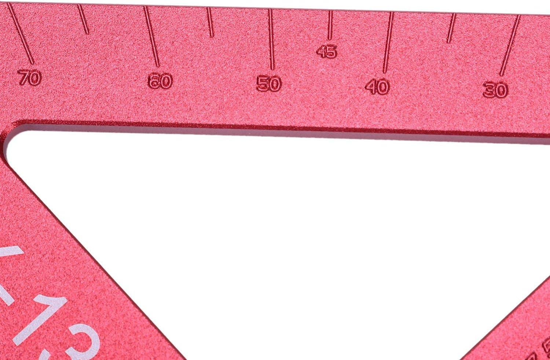 Nrpfell L/íNea de Carpinter/íA de Precisi/óN de 90 Grados Scriber Regla Triangular Medidor de Medici/óN Regla Cuadrada Herramientas de Carpinter/íA para Carpinter/íA