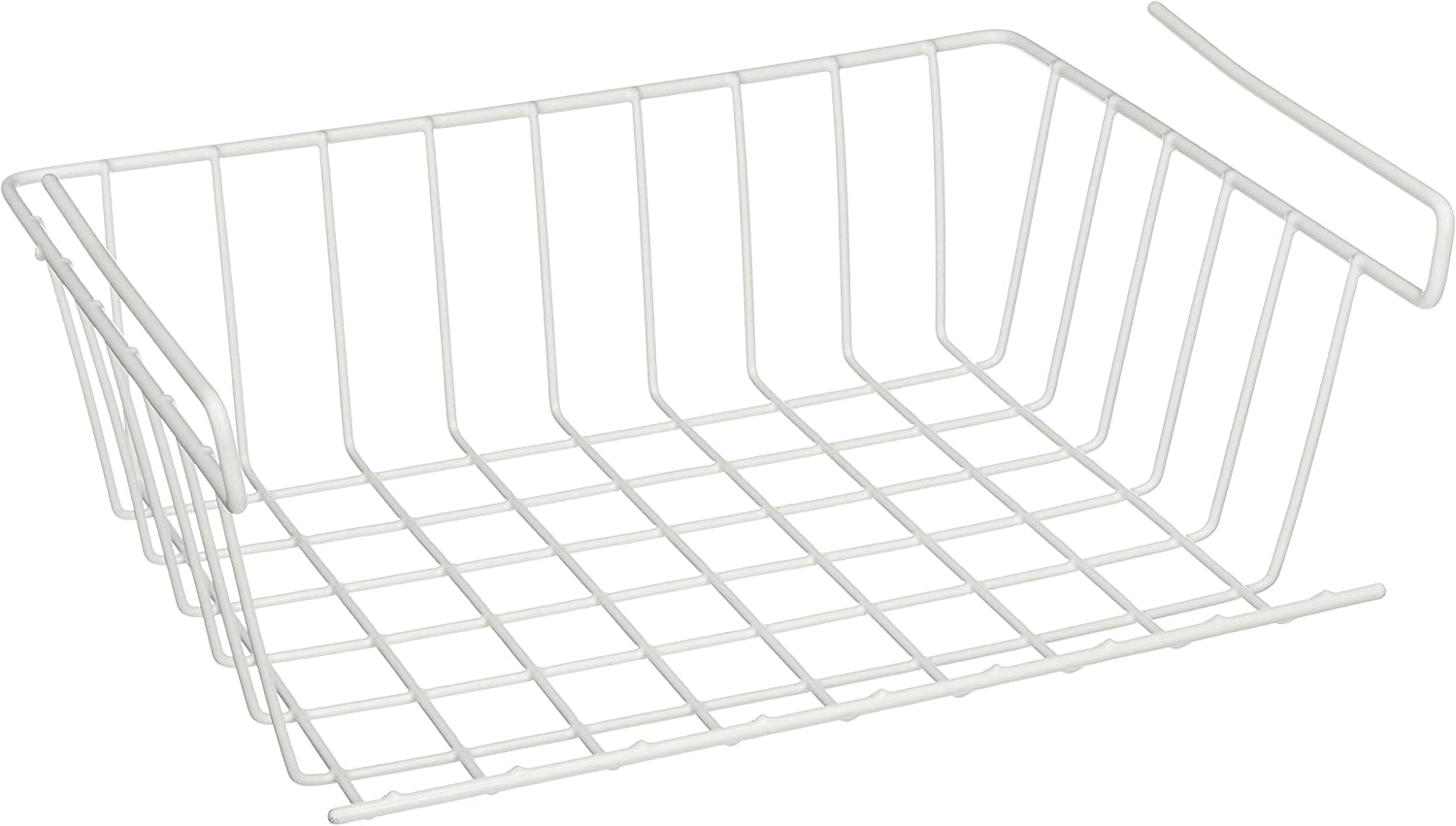 YBM HOME Under Shelf Storage Basket, 12-inch, White #1184