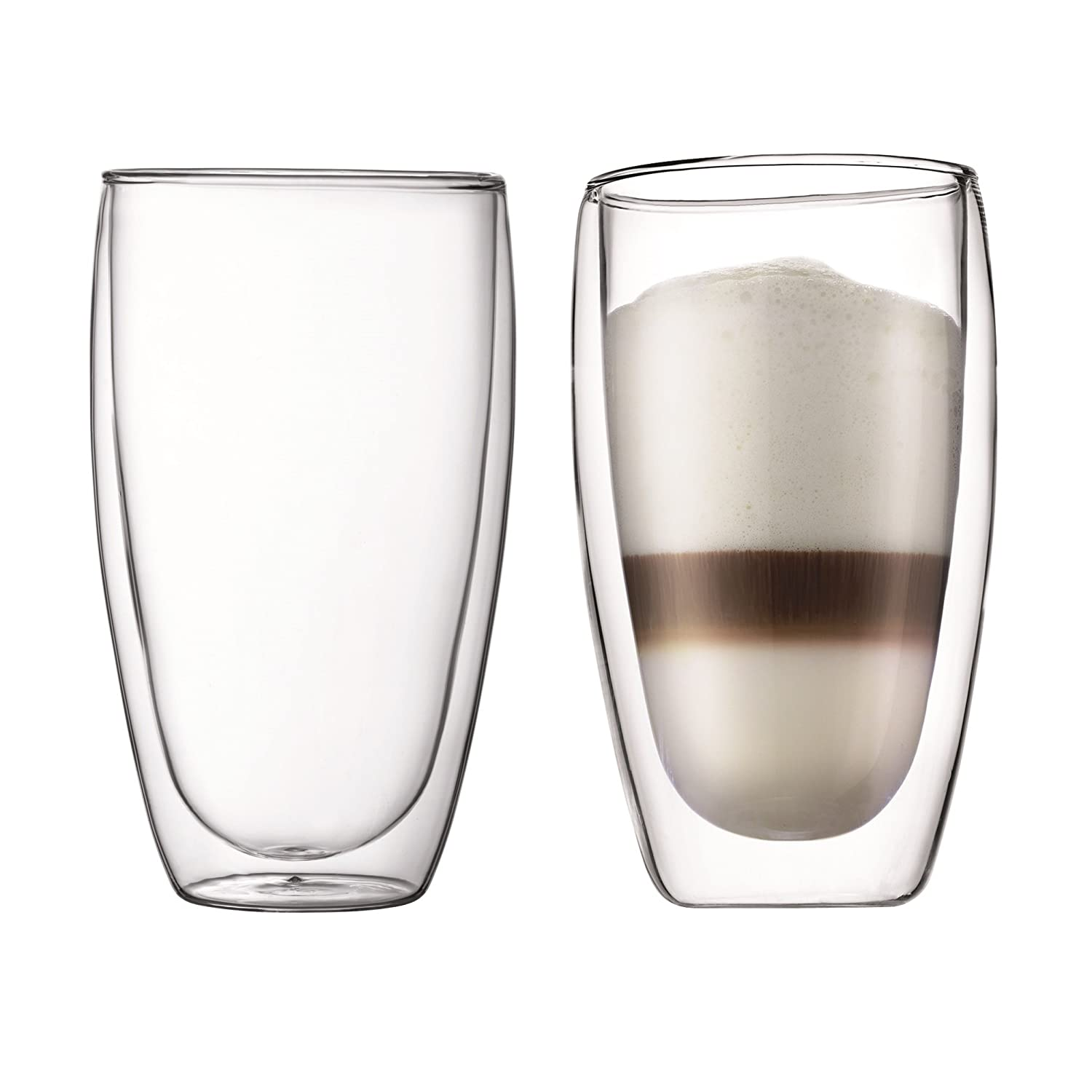 BODUM PAVINA Double Walled Thermo Glasses 0.08 L, 2.5 oz, Pair 4557-10 Drinksware Casual Drinkware