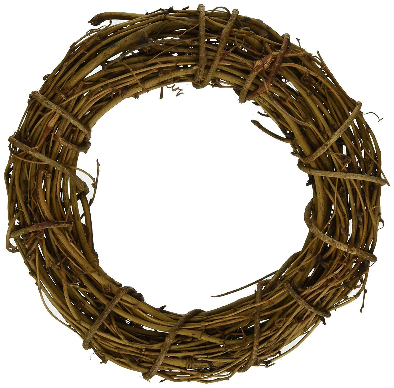 1pcs Natural Grapevine Wreath Ring Wreath DIY Craft Vines Base Grapevine Roll for Rustic Summer Fall Christmas Wreath Door Garland Home Wedding Party Decor Gift Hanging Decor Wreaths Supplies, 20inch FENGMANG