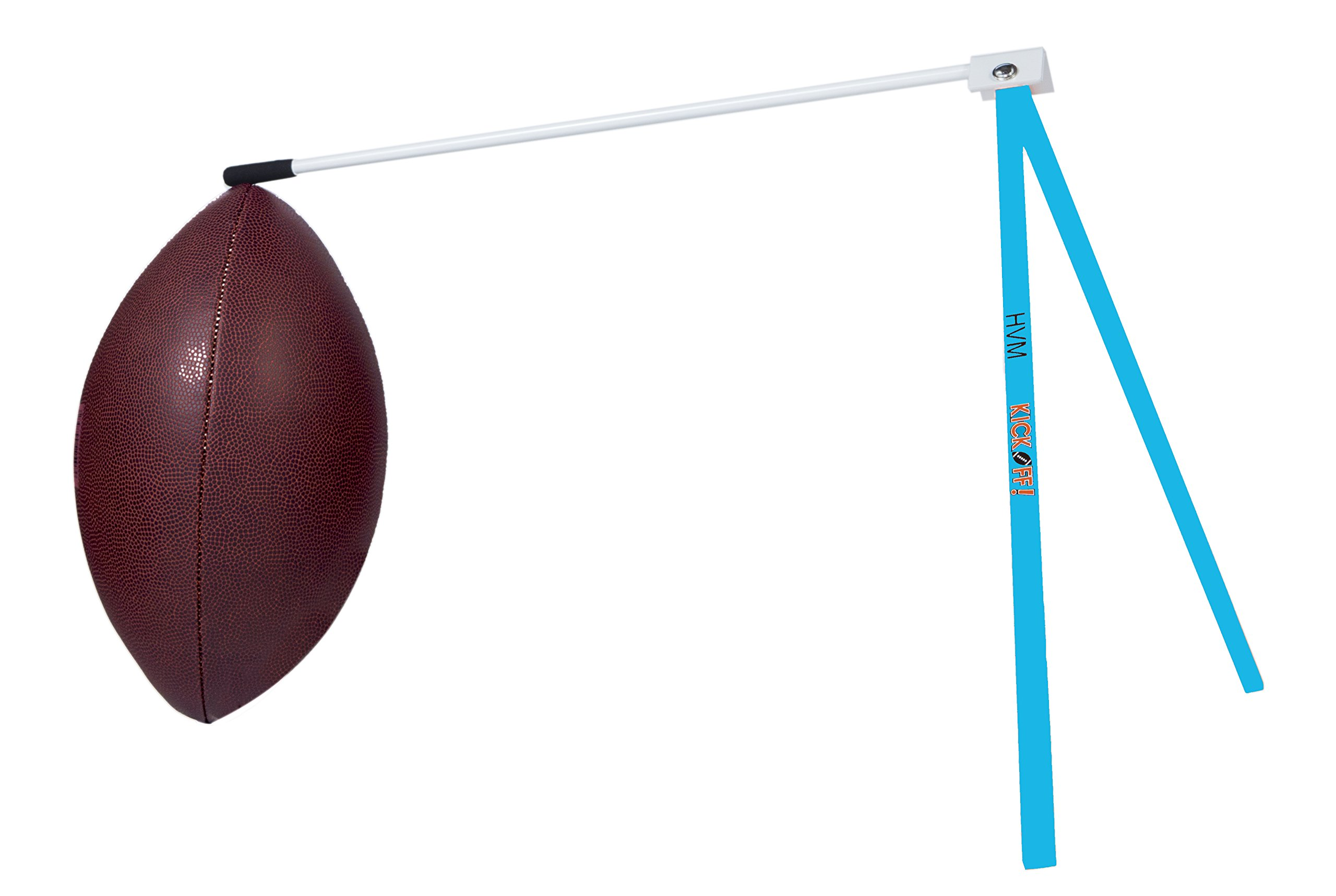 Kickoff! Football Holder --- Football Place Holder Kicking Tee -- Use with Foot ball Field Goal Post or Football Kicking Net (Blue and White)