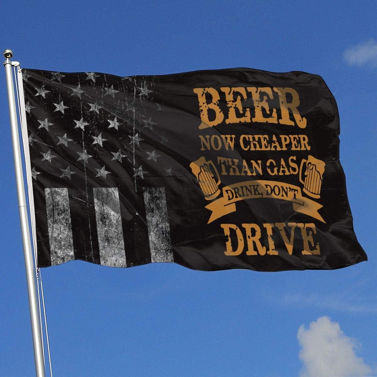 AOTADer Banderas al Aire Libre Bandera de EE. UU. Desgastada No conduzca Mientras Bebe Bandera para fanático de los Deportes Fútbol Baloncesto Béisbol Hockey