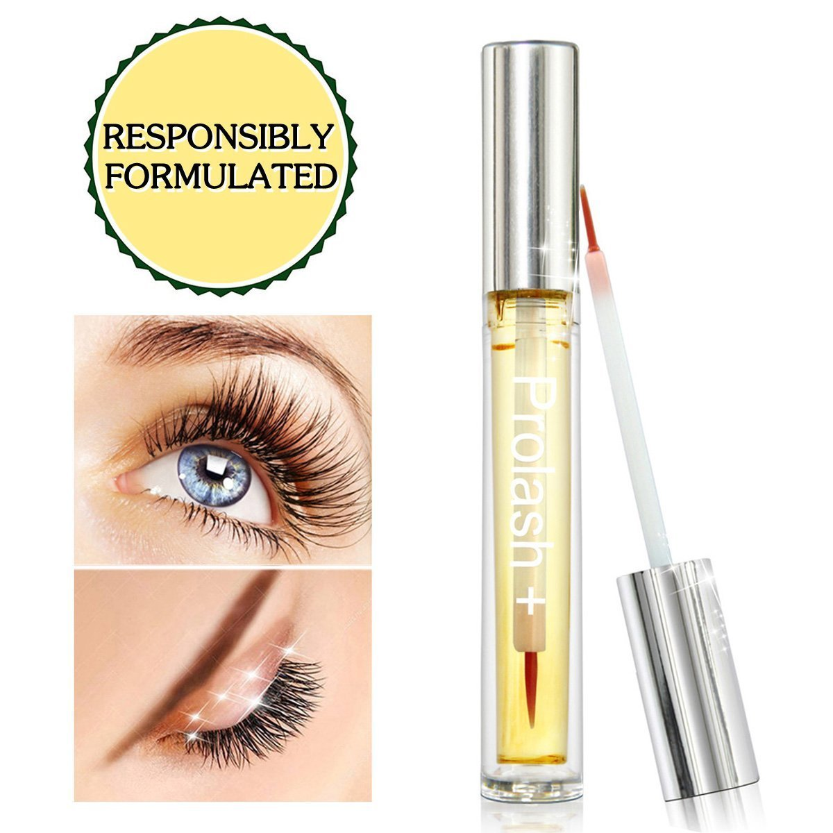 484cb266af4 Amazon.com: LashesBeauty Advanced Eyelash Growth Serum Eyelash Enhancer for  Longer, Fuller, Thicker Eyelash & Eyebrow: Beauty