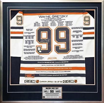 2de89f3e393 Wayne Gretzky White Career Jersey #99 of 99 - Signed - Edmonton Oilers - WGA
