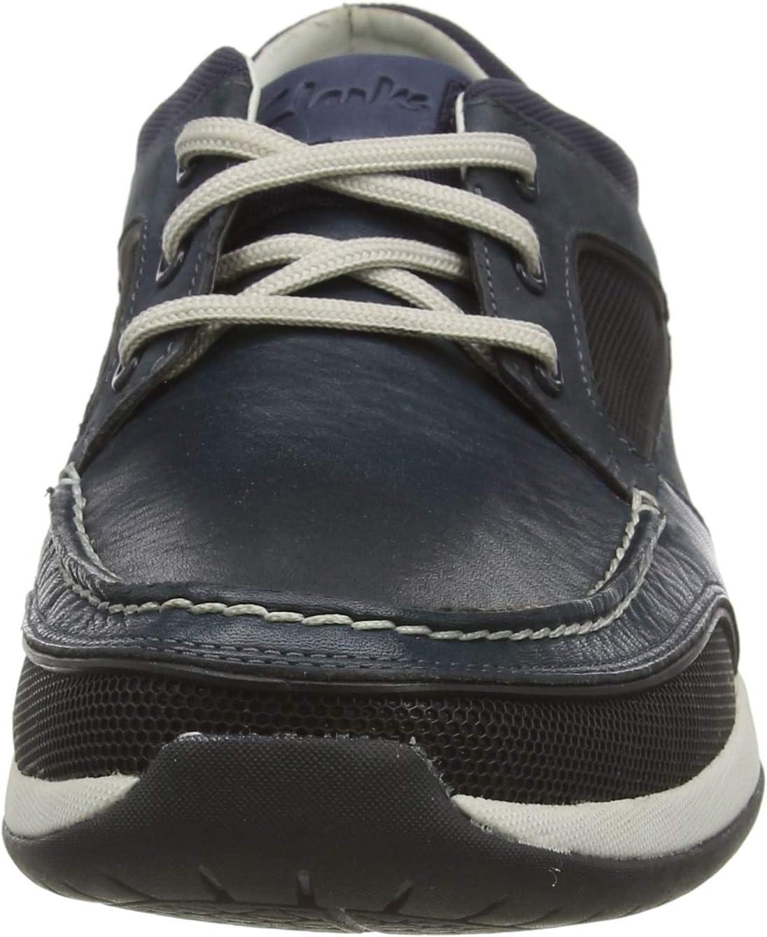 Clarks Ormand Sail Sneakers voor heren Blau (Navy Combi Navy Combi)