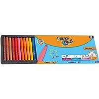 BIC Kids Visacolor XL Yıkanabilir Jumbo Keçeli Boya Kalemi, 24'lü Kutu