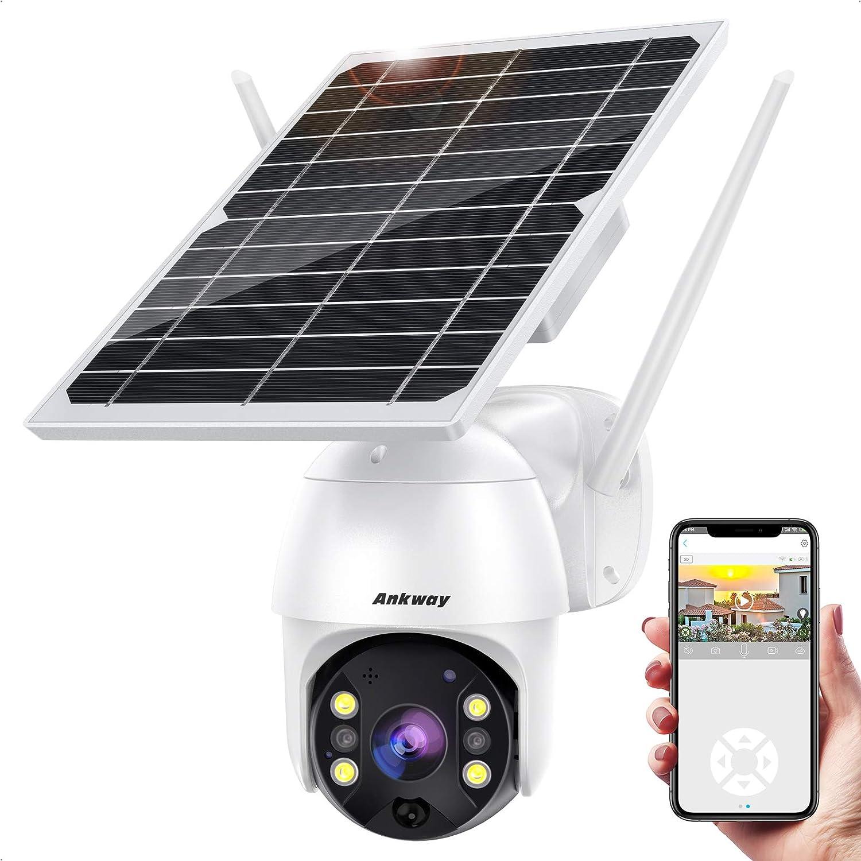 Ankway  IP65 1080P WiFi Solar Security Camera $88.39 Coupon