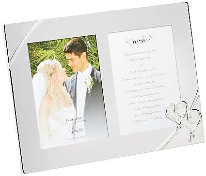 Amazon.com - Lenox True Love Double Invitation Frame, 9-Inch - True ...
