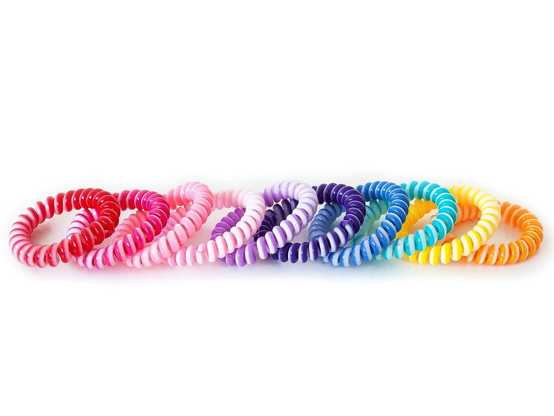 Haargummi (Kunststoff-Spirale),Telefonkabel, elastisch, Haarschmuck im 5er Set MyBeautyworld24 EUR