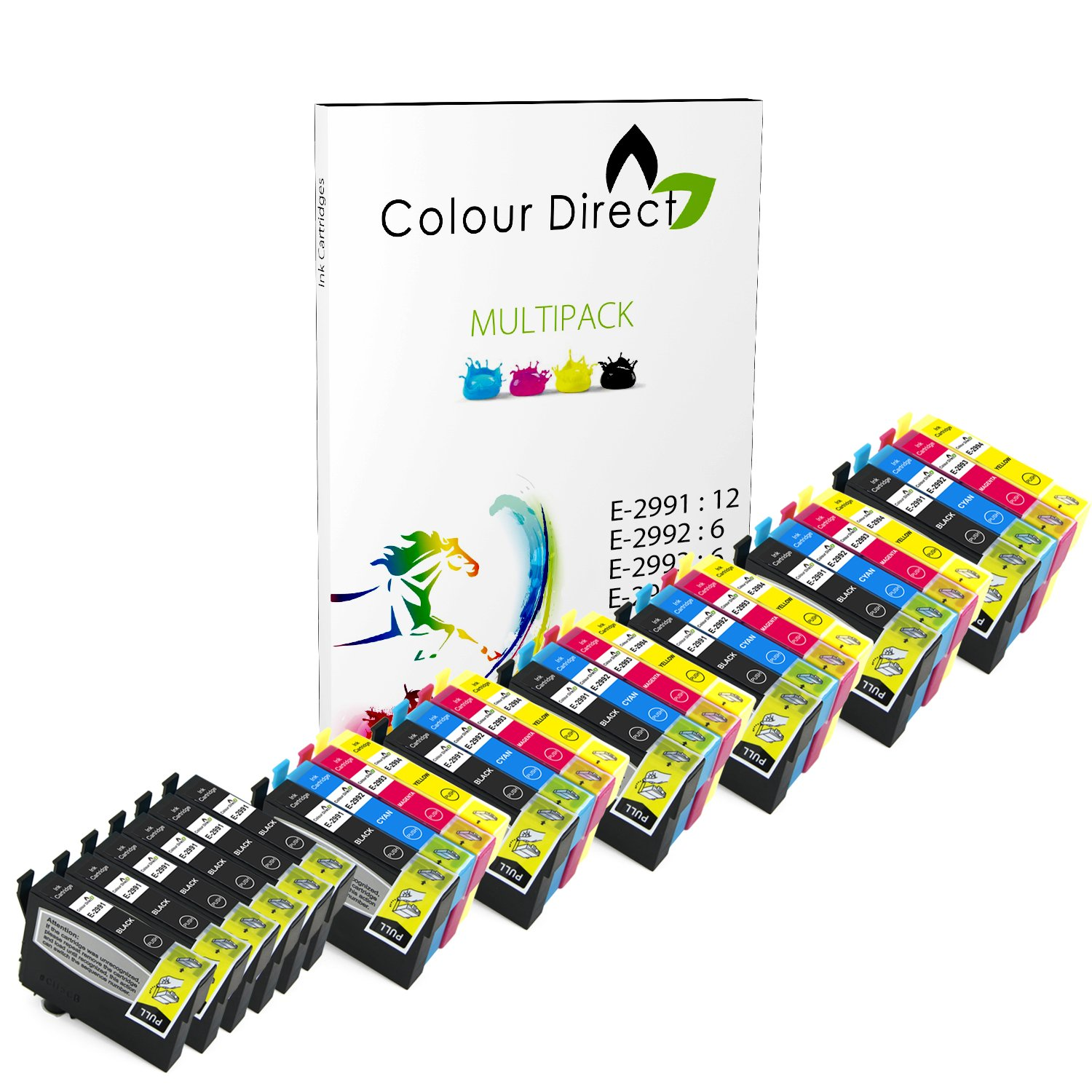 Colour Direct -6 Conjuntos + 6 Negro Compatible cartuchos de tinta ...