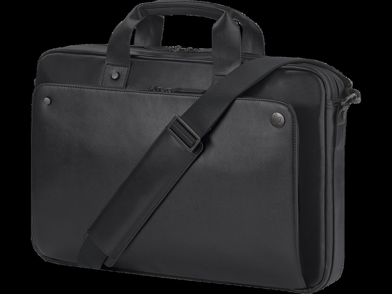 HP 1LG83AA Executive Top Load Notebook Carrying Case 15.6'', Black by HP (Image #1)