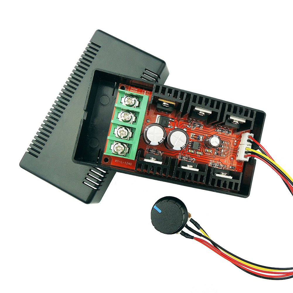 uniquegoods 12V 24V 48V 2000W MAX 10-50V 40A DC Motor Speed Controller PWM HHO RC Control Adjustable Driver with Lead Wire