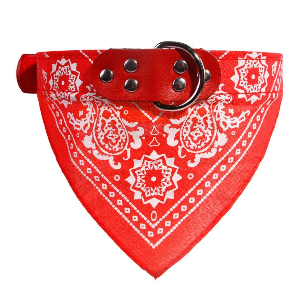 Sicond pour Animal Domestique Chat col écharpe Chien Mignon Collier Bandana pour Chiens Small Medium Large Triangle Ceintures pour Chiens Accessoires Robe Pet Supplies (Rouge)