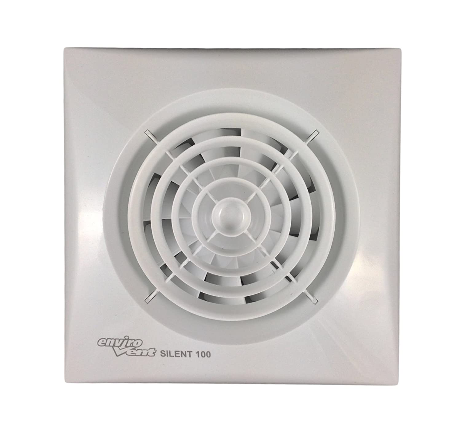 How to fit a bathroom extractor fan - Envirovent Sil100t Silent Bathroom Extractor Fan For 4 100mm Ducting Amazon Co Uk Diy Tools