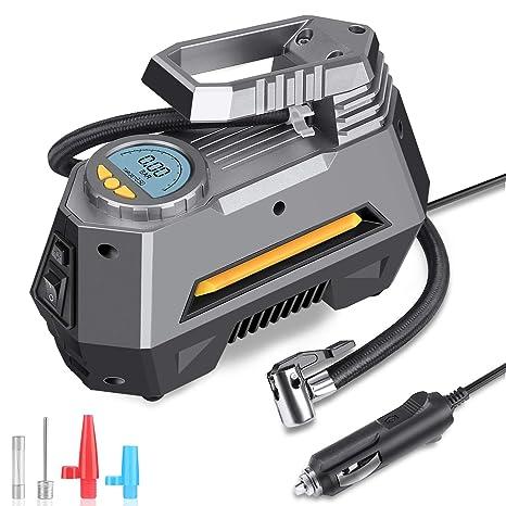 Amazon.com: MOICO Bomba compresora de aire portátil, 12 V DC ...