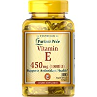 Vitamin E 1000 IU for Immune and Healthy Skin Support by Puritan's Pride For Immunity...