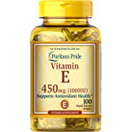 Puritans Pride Vitamin E 1000 IU Soft Gels,100 count