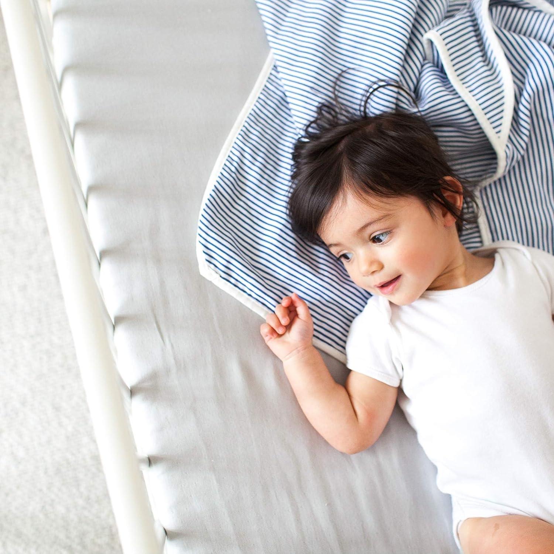 Premium 100/% Organic Cotton Muslin Blanket Scandinavian Style 9-Layer Blanket with Cream Trim Various Colours Blush