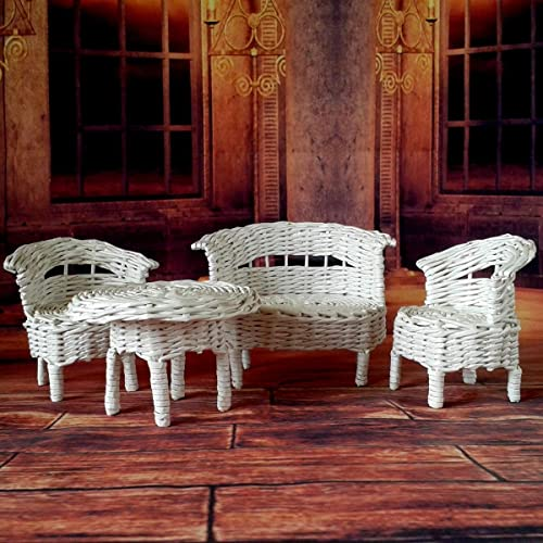 Amazoncom Miniature Furniture For Victorian Dollhouse Wicker