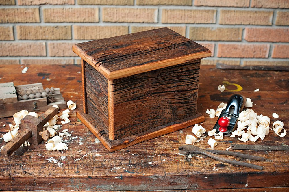 Barnwood Funeral Urn in Pine - Handcrafted in Wisconsin, USA From Vintage Barn Wood - Cremation Urn For Human Ashes & Cremated Remains - Burial Urn - Decorative Urn - Wood Urn by Northwoods Casket Company (Image #6)