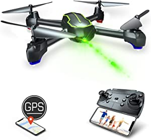GPS Drones with Camera for Adults & Beginners - LooLinn | FPV RC Drone Quadcopter with Full HD 1080p Camera Live Video, 16min Flight Time, Follow Me, GPS Auto Return Home(Under 250g)