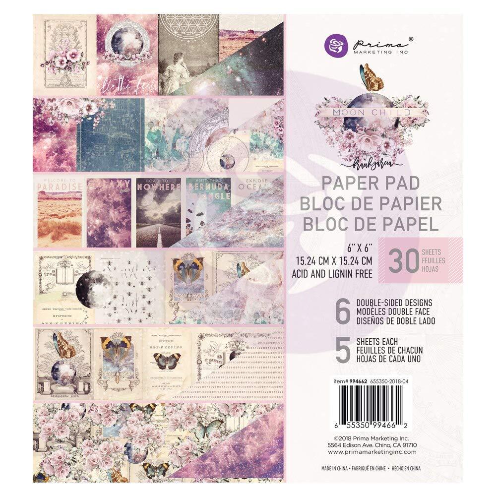 6 Diseños//5 cada uno Prima Marketing de doble cara Papel Pad A4 30//pkg Misty Rose