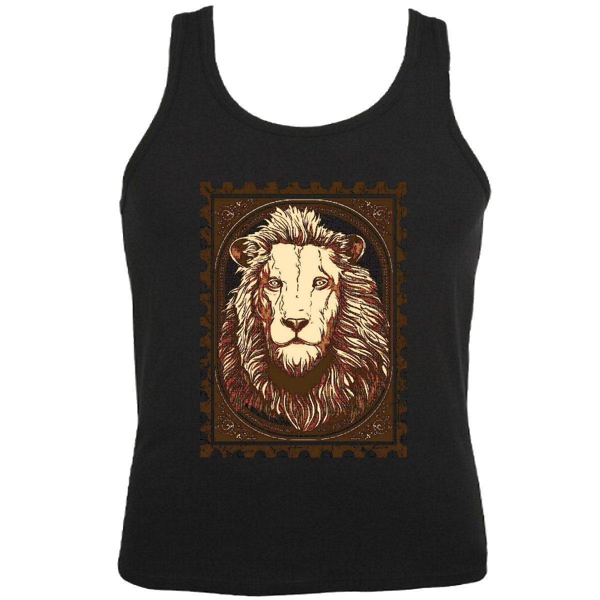 Camisa del músculo Tank Top Gothic Tatuaje Lion King Lion Salvaje ...