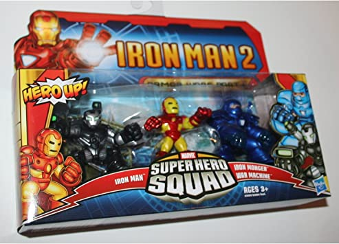 Marvel Superhero Squad - Armour Wars Part 1 - 3 Figure Pack - Iron Man 2 [Toy]: Amazon.es: Juguetes y juegos