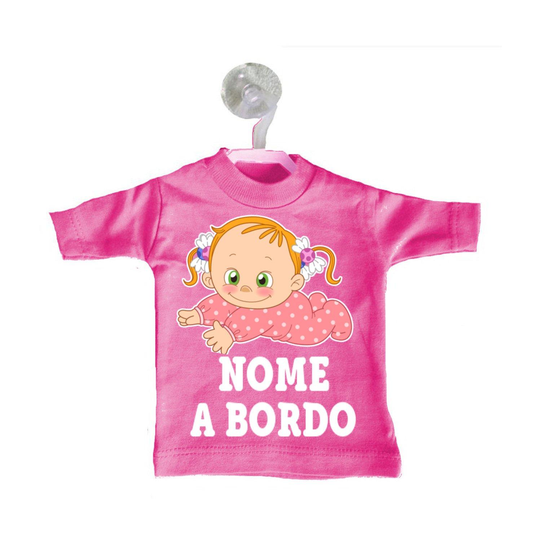 T Shirt Bimba Magliettina Macchina A Bordo Auto Mini Fuxia P80NnkOXw