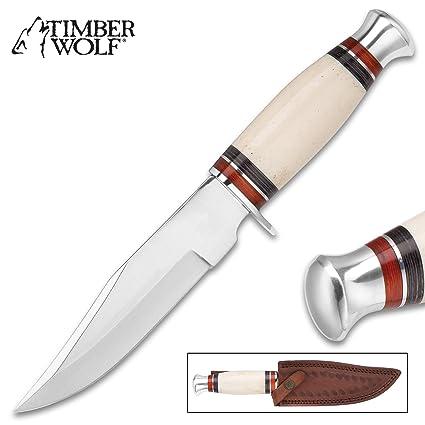Amazon.com: Timber Wolf – Cuchillo de acero inoxidable de ...