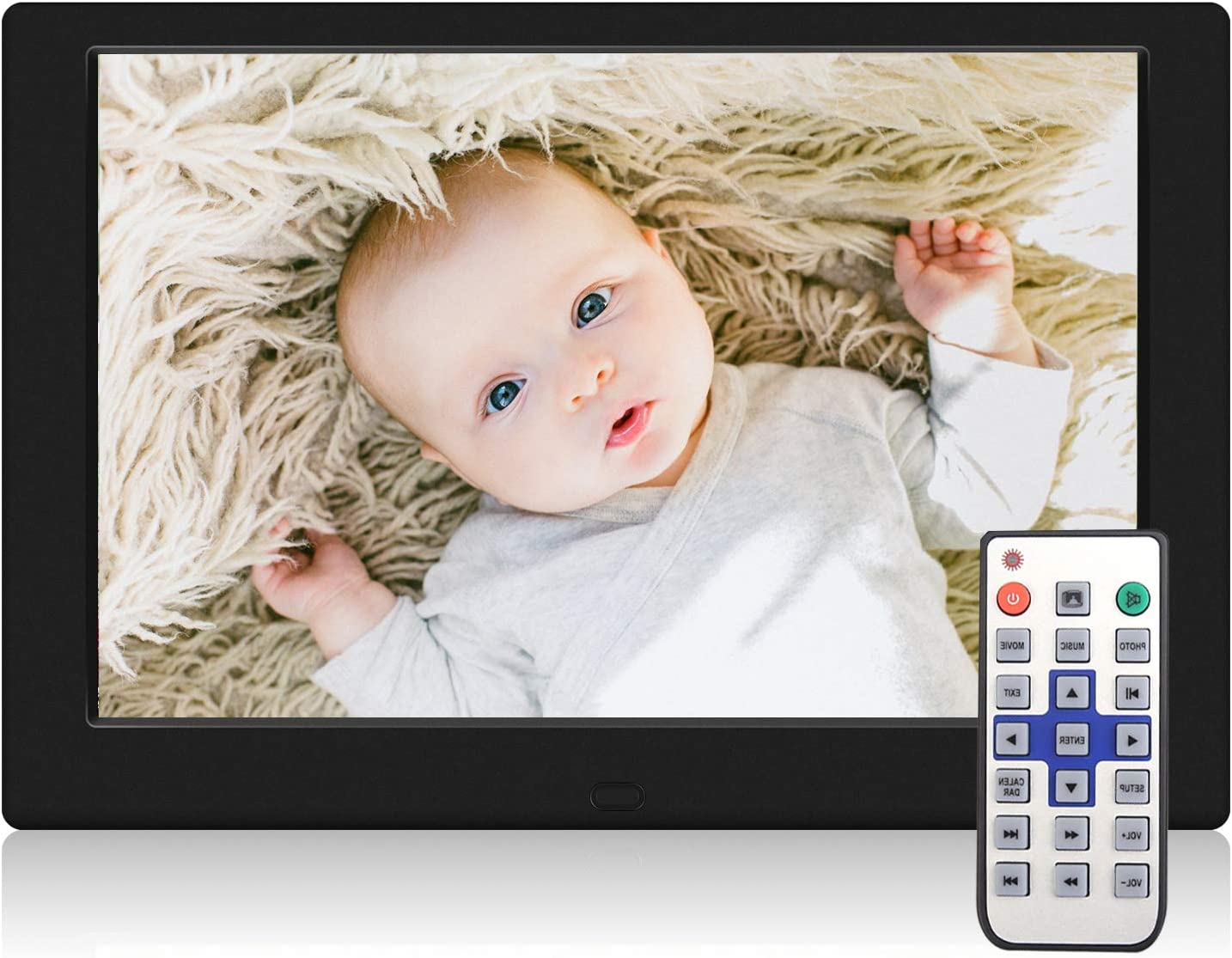 TENSWALL Digital Photo Frame, 10.1 inch Digital Picture Frame with Background Music