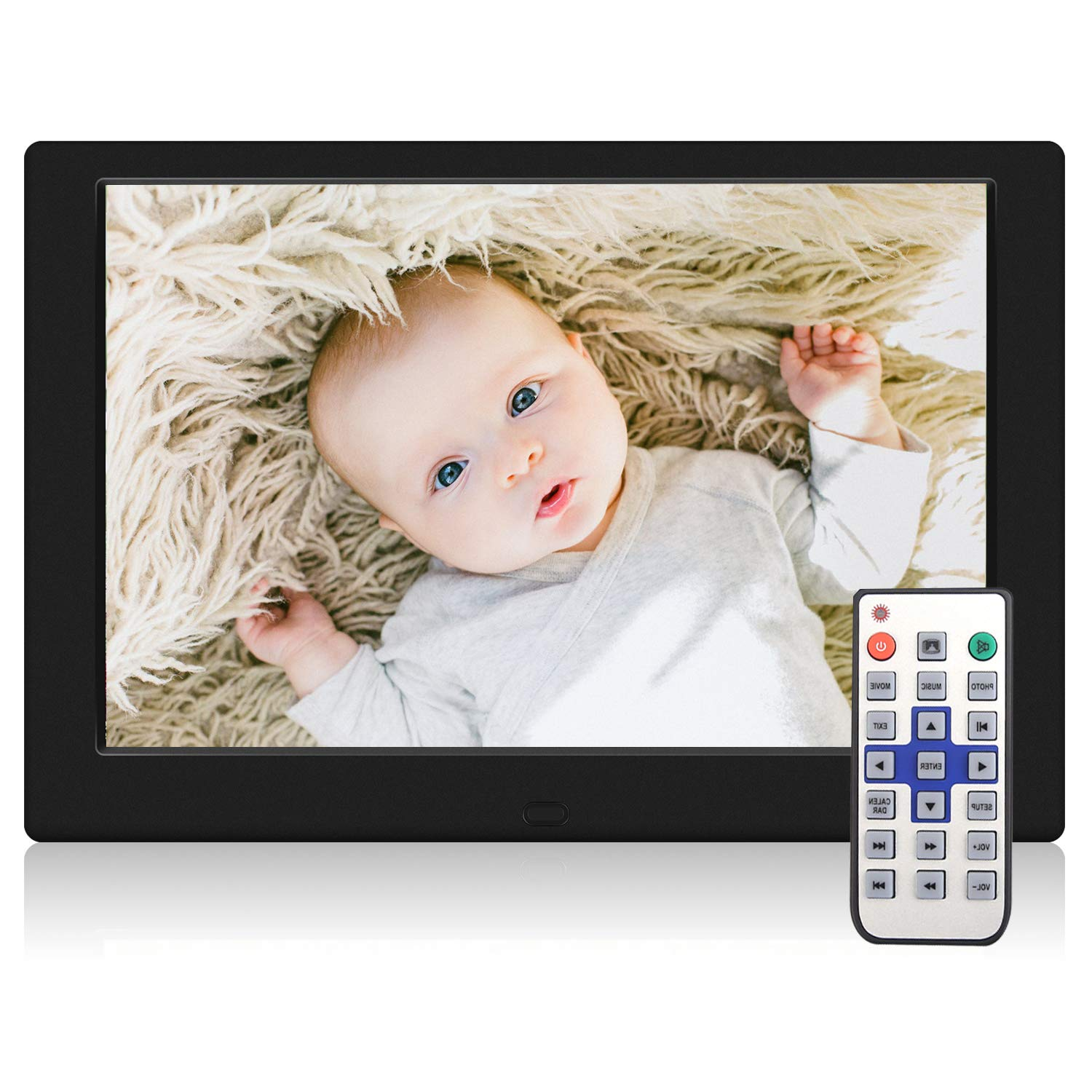 TENSWALL 10.1 Inch Digital Picture Frame, Advance Digital Photo Frame with Background Music, 1080P Video HD 1280x800 16:10 IPS Screen, Support 32GB USB Drives/SD Card, Remote Control -Black by Tenswall