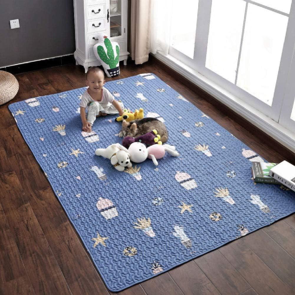 OUDA.ach Alfombra Infantil para niños y niñas. Dormitorio Playroom Suave Algodón Esteras de Arrastre del bebé Manta de Juego Alfombra de Juego: Amazon.es: Hogar