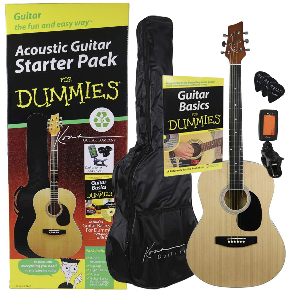 Amazon.com: Guitar For Dummies Acoustic Guitar Starter Pack (Guitar, Book,  Audio CD, Gig Bag): Musical Instruments
