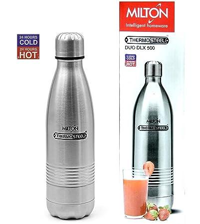 Milton Thermosteel Duo 500 DLX Bottle, 500ml, Steel