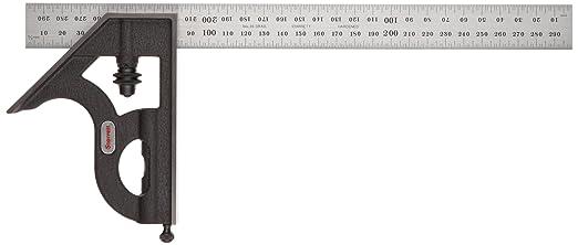 6 opinioni per Starrett Squadra combinata con elemento angolare, sistema metrico, 300 mm-