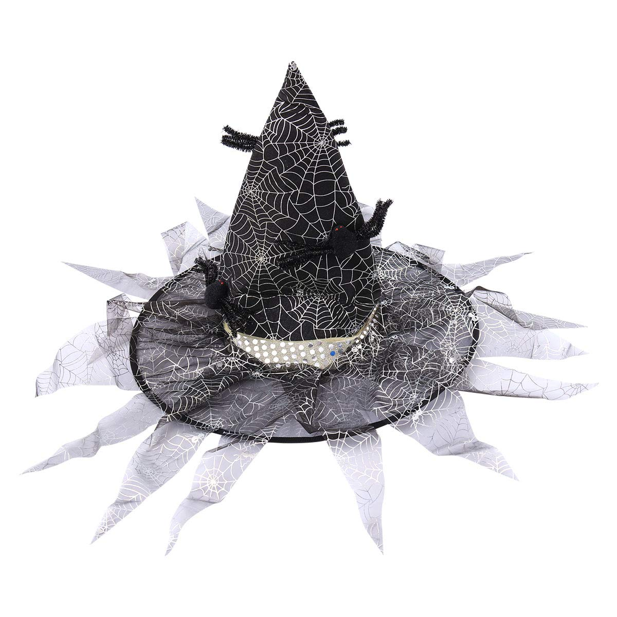 894ca8dbf34 TENDYCOCO Halloween Witch Hat Cosplay Large Black Witch Hat Spider Web  Witch Cap Costume Cosplay Props Halloween Role Play Accessories Fancy  Halloween ...