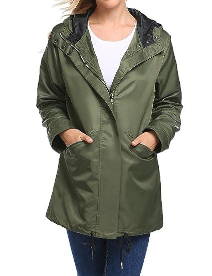 42a107ab1 Amazon.com  Womens Waterproof Lightweight Rain Jacket Active Outdoor ...