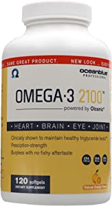 Ocean Blue Omega-3 2100-120 Softgels - Top-Rated Fish Oil - EPA - DHA