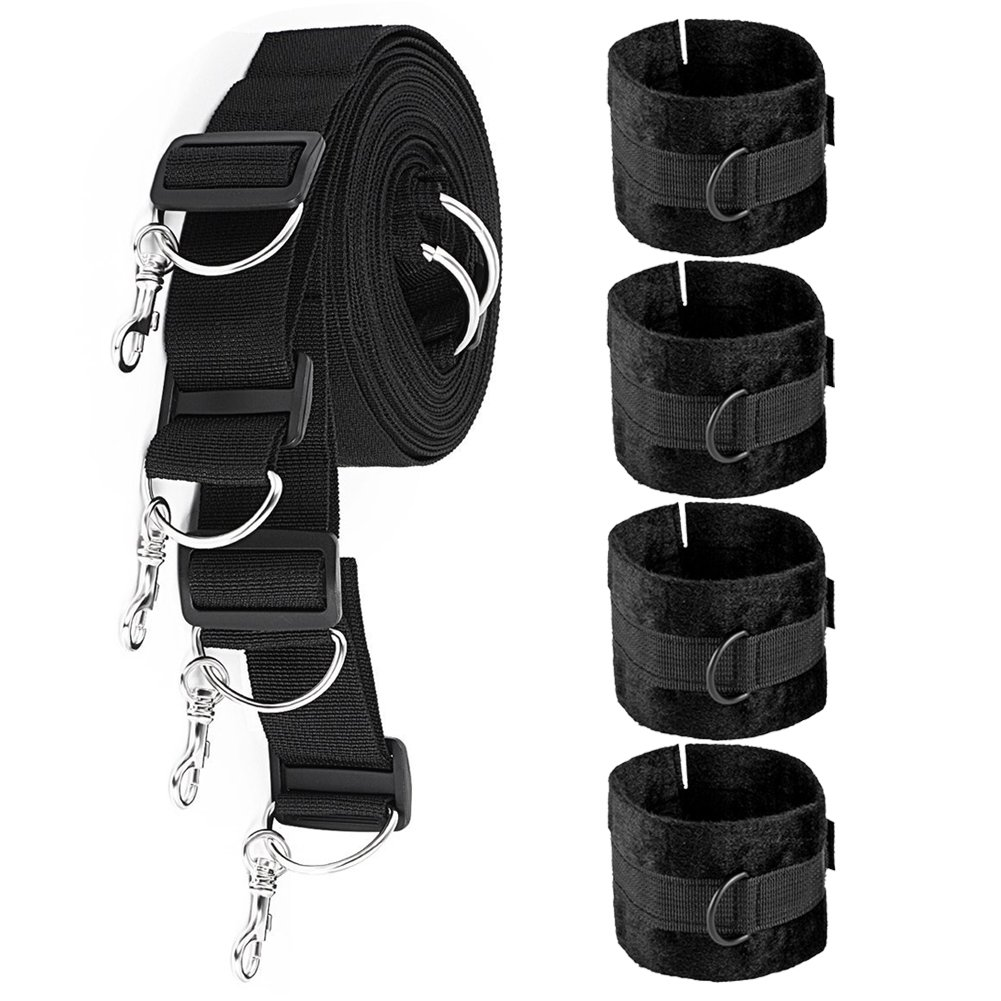Tatamie Soft Comfortable Durable Bed Straps Sets -Black