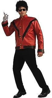 Amazon.com: Rubies Michael Jackson Deluxe Red Zipper Jacket ...