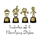 Halloween Trophy 4-Pack w/Stock Plate - Choose from 4 Styles