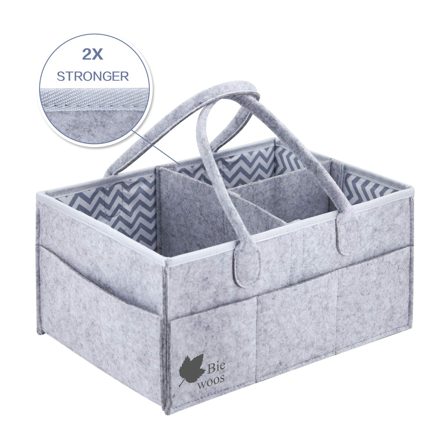 Baby Diaper Caddy Organizer| Car Travel Bag| Multifunctional Storage Basket for House - Nursery Diaper Caddy Storage Bin - Diaper Tote Bag | Newborn Registry Must Haves Potou