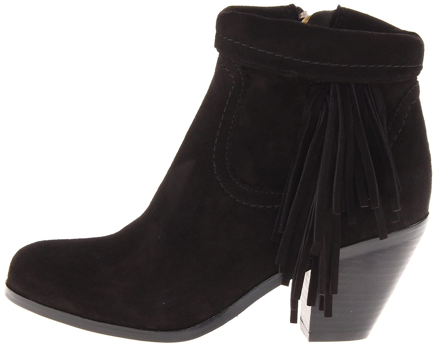 Sam Edelman Women's B(M) Louie Fringe-Trimmed Ankle Boot B005ON3AT6 10.5 B(M) Women's US|Black Suede acd763