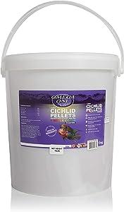 Omega One Super Color Floating Cichlid Pellets, 8mm Large Pellets, 10 lb Bucket