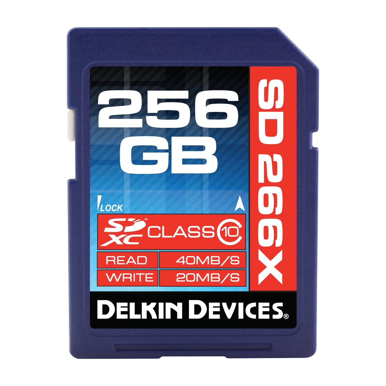 Delkin 256GB SDXC 266X UHS-I (U1) Memory Card(DDSD266256GB-A)